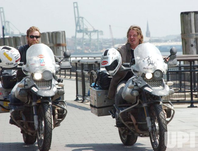 ACTOR EWAN MCGREGOR COMPLETES TRANSCONTINENTAL MOTORCYCLE DRIVE