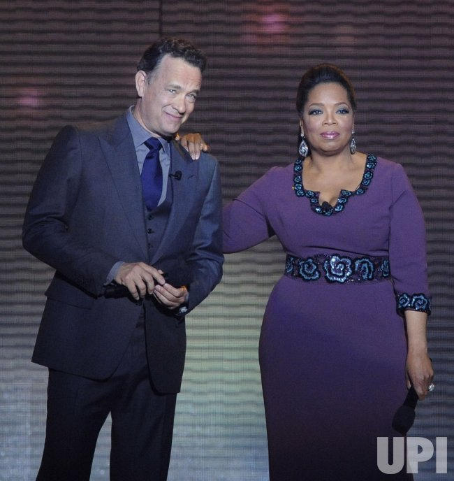 Oprah and Tom Hanks talks in Chicago