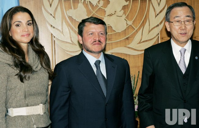 King and Queen of Jordan meet Secretary General at the United Nations New York