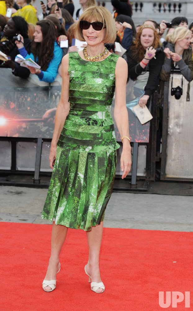 "Anna Wintour attends ""Harry Potter And The Deathly Hallows Part 2"" world premiere in London"
