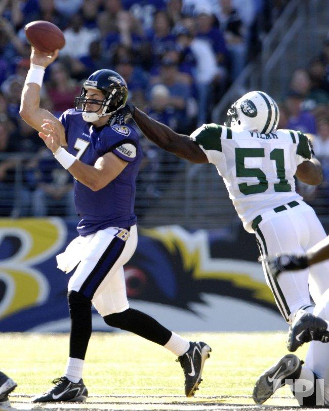New York Jets Vs Baltimore Ravens In Baltimore Upi Com The new york jets take on the baltimore ravens dur. upi com