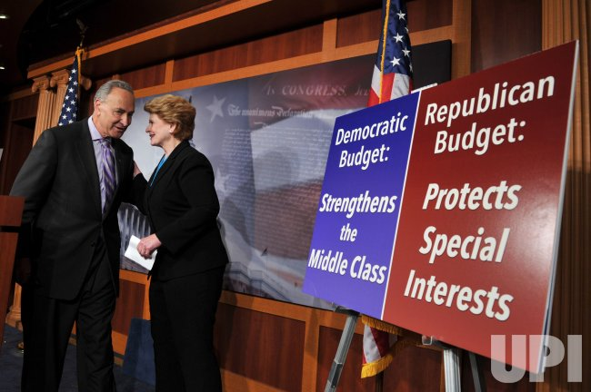 Democratic Senators hold a press conference on the Budget in Washington