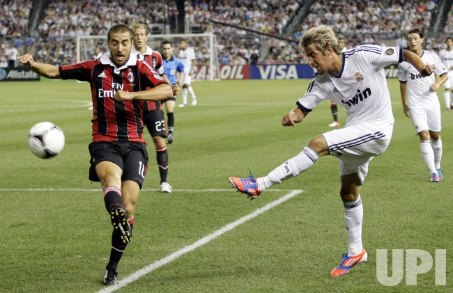 Real Madrid vs A.C. Milan at Yankee Stadium in New York