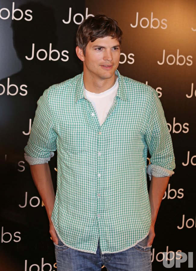 "Photo call for the film ""Jobs"" in Paris"