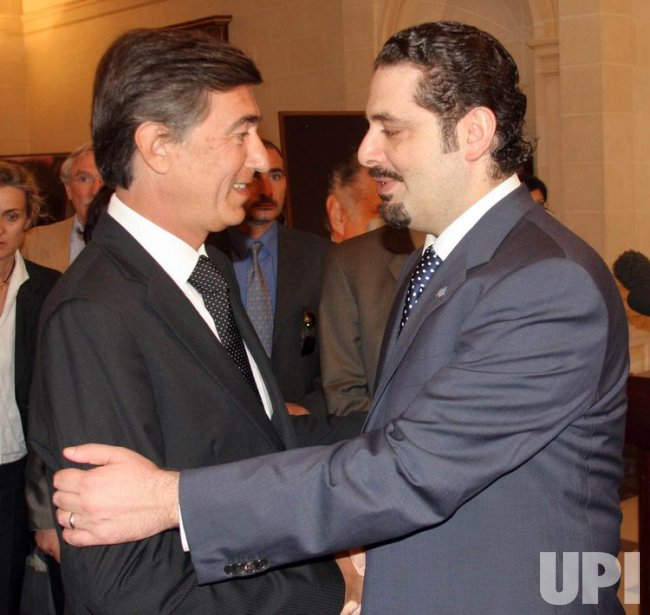 SAAD HARIRI MEETING WITH FRENCH FOREIGN MINISTER