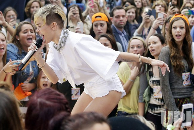 Miley Cyrus performs on the NBC Today Show
