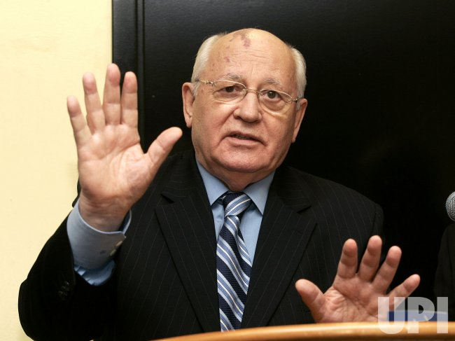 Mikhail Gorbachev speaks in Hollywood, Florida