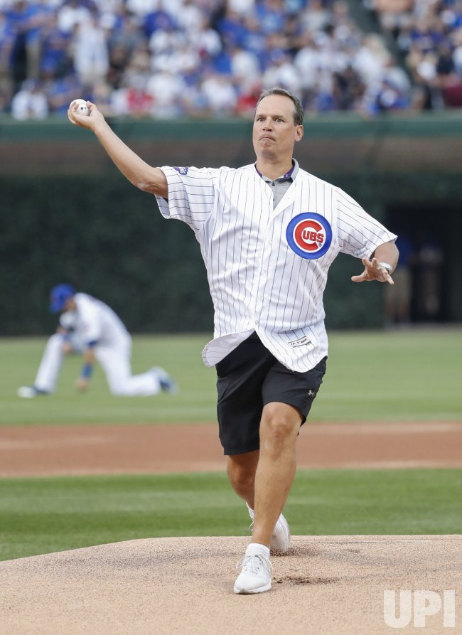 Chris Collins throws ceremonial first pitch in Chicago