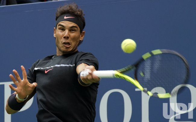 Rafael Nadal of Spain plays at the US Open