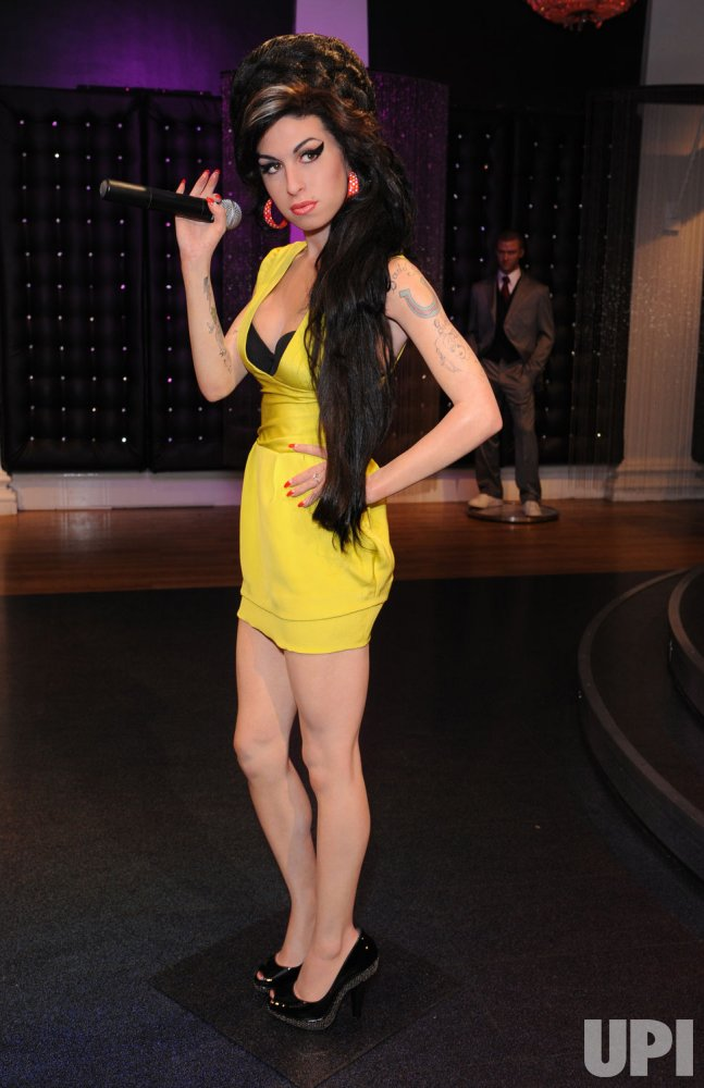 Amy Winehouse waxwork unveiling in London