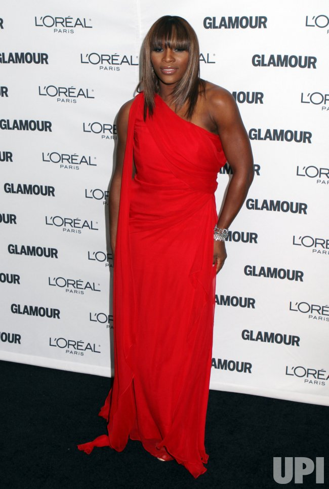 Tennis player Serena Williams arrives at the Glamour Magazine 2009 Women of the Year Awards at Carnegie Hall in New York