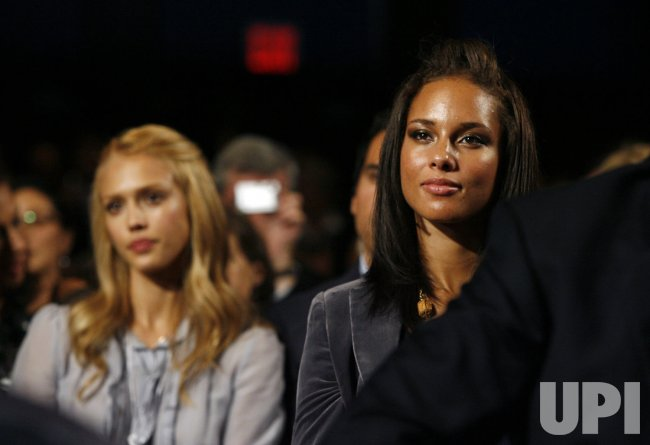 Jessica Alba and Alicia Keys attend the Clinton Global Initiative at the Sheraton Hotel in New York