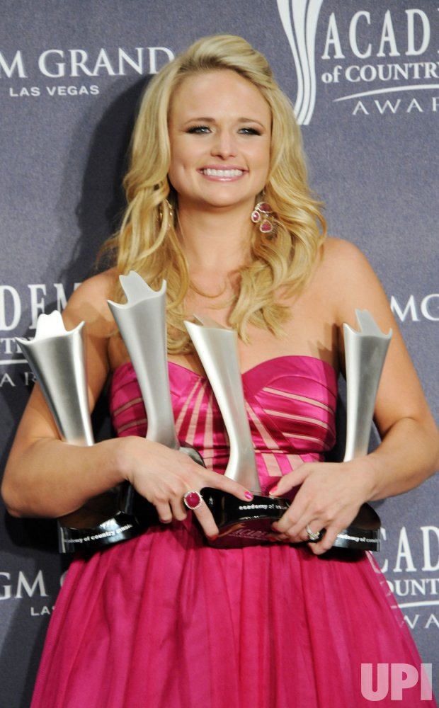 Miranda Lambert garners four ACM awards at the 46th annual Country Music Awards in Las Vegas