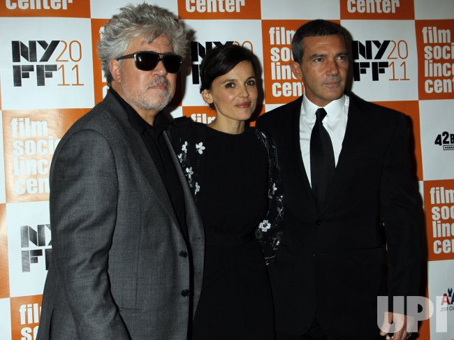 "Pedro Almodovar, Antonio Banderas and Elena Anaya arrive for ""The Skin I Live In"" Premiere in New York"