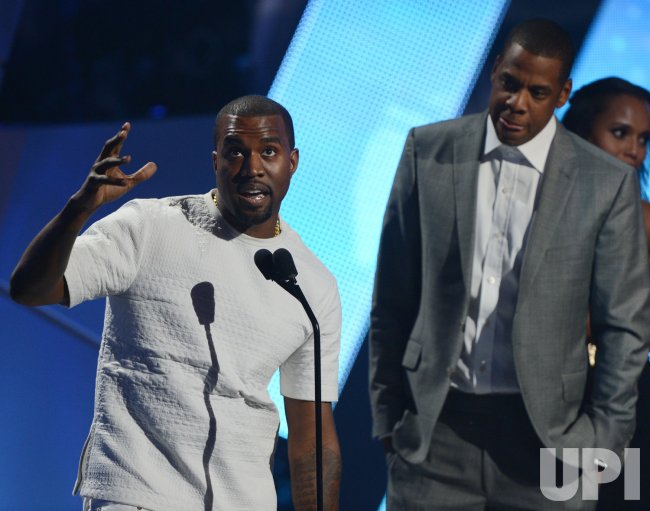 Kanye West and Jay-Z accept the Video of the Year award during BET Awards 12 in Los Angeles