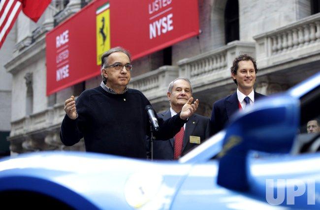 Ferrari begins trading at the NYSE