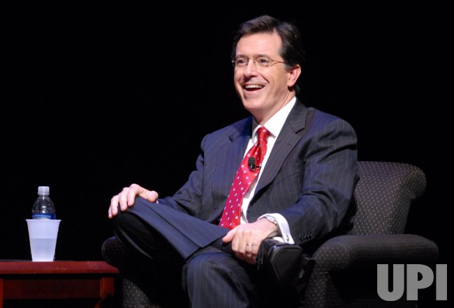 Stephen Colbert speaks about his new book in Washington