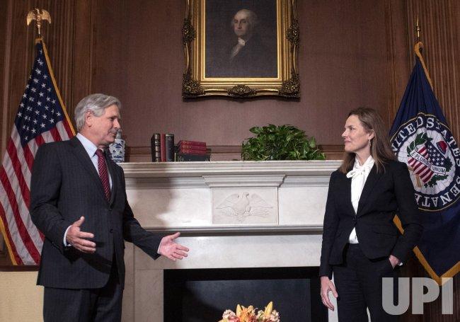 Sen. Hoeven meets with Supreme Court nominee Judge Amy Coney Barrett in Washington, DC