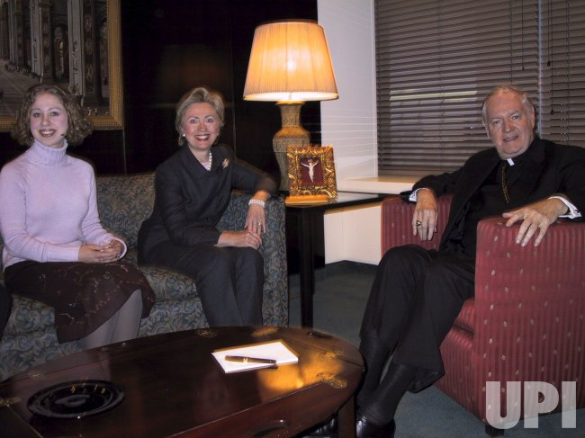 HILLARY CLINTON WITH ARCHBISHOP EGAN