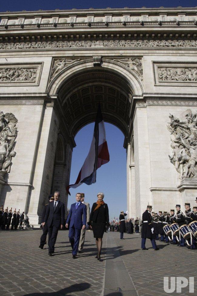 Russian President Medvedev visits Paris