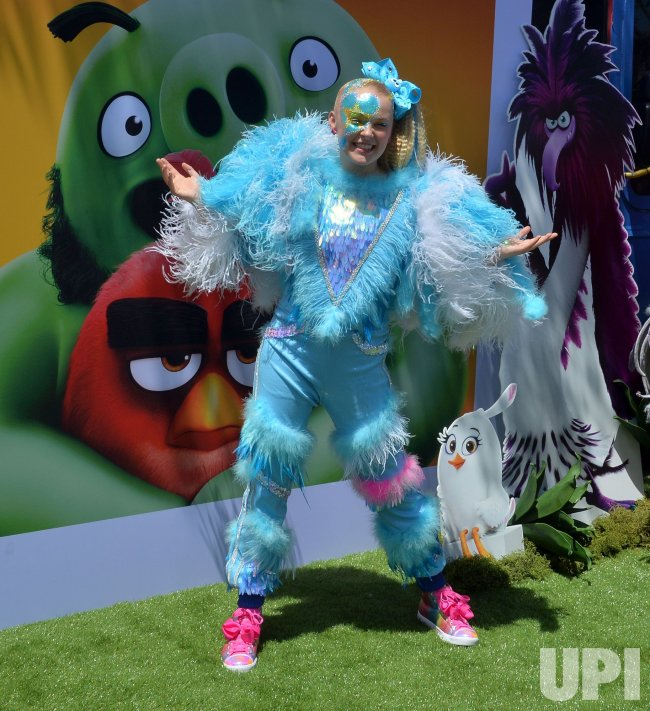 "JoJo Siwa attends ""The Angry Birds Movie 2"" premiere in Los Angeles."