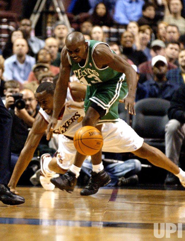 BOSTON CELTICS AND PHILADELPHIA 76ERS IN NBA BASKETBALL