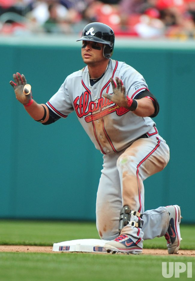 Atlanta Braves Martin Prado safely slides into second in Washington