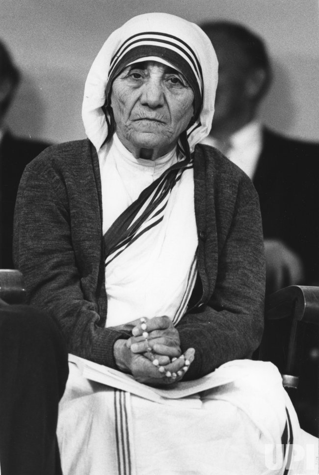 Mother Teresa at Harvard University's 331st Commencement exercises
