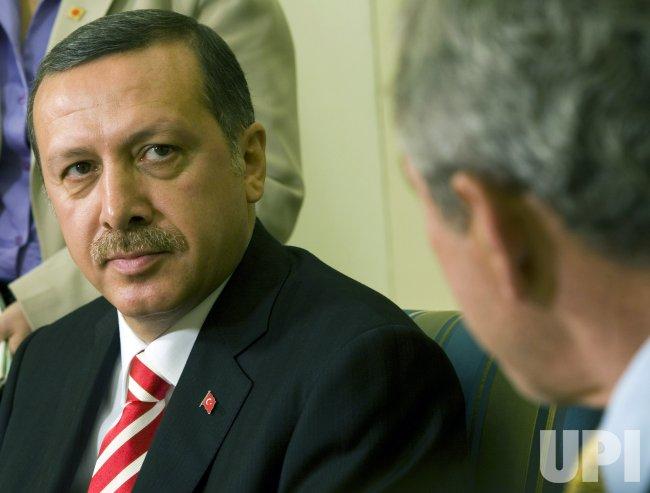 PRESIDENT BUSH MEETS WITH TAYYIP ERDOGAN OF TURKEY