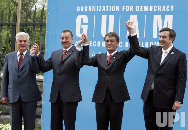 PRESIDENTS OF UKRAINE, MOLDOVA, GEORGIA AND AZERBAIJAN MEET AT THE GUAM SUMMIT IN KIEV