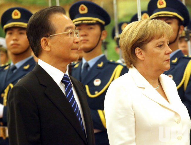 German Chancellor Merkel meets China Prime Minister Wen in Beijing