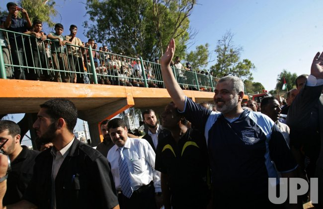 Hamas leader Ismail Haniya A Plays Football
