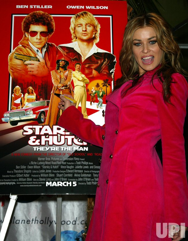 CARMEN ELECTRA AT PLANET HOLLYWOOD IN NEW YORK