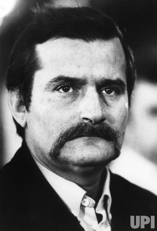 Lech Walesa, founder of the Solidarity movement in Poland ...