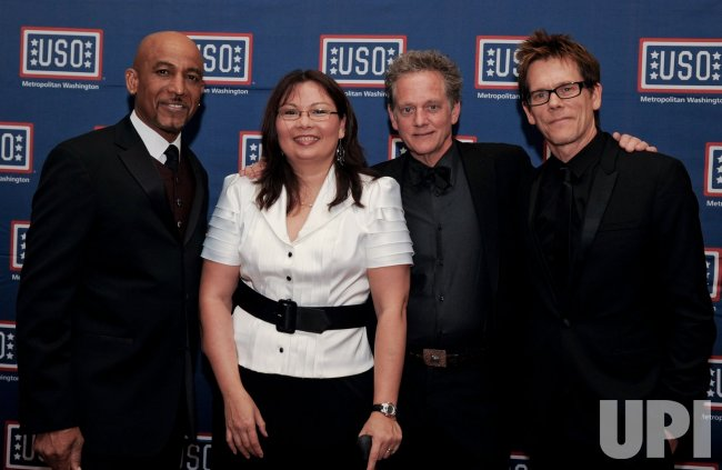 Montel Williams, Michael and Kevin Bacon attend USO 28th Annual Awards Dinner in Arlington, Virginia