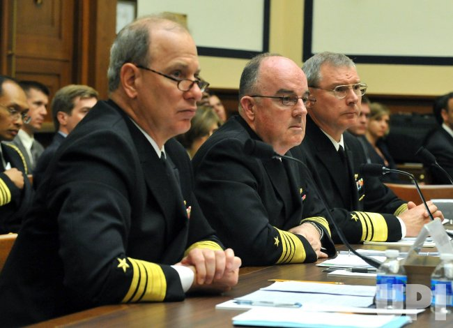 Vice Admiral William Burke, Adm. John Harvey Vice Adm. Kevin McCoy testify in Washington