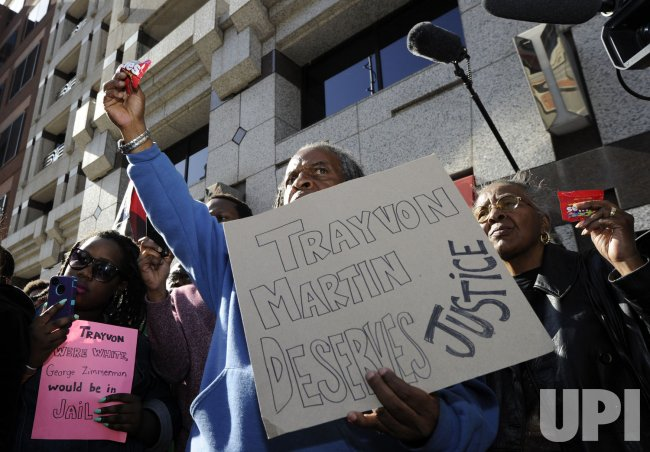 Rally for Trayvon Martin held in Washington DC at Dept of Justice offices