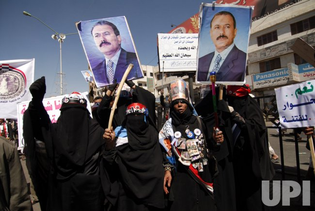 Demonstration Support of President Ali Abdullah Saleh in Yemen