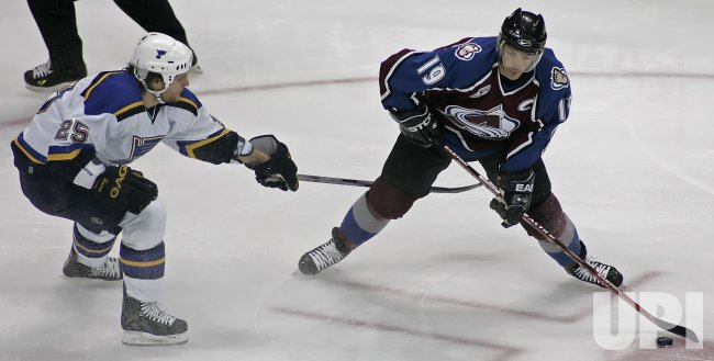 NHL ST. LOUIS BLUES VS COLORADO AVALANCHE