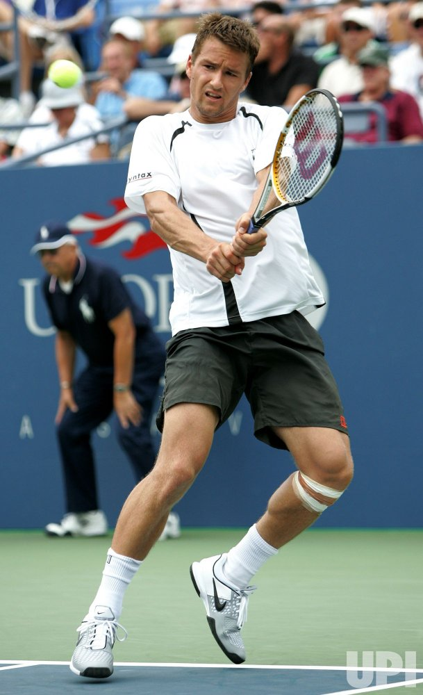 John Isner and Marco Chiudinelli compete at the U.S. Open in New York