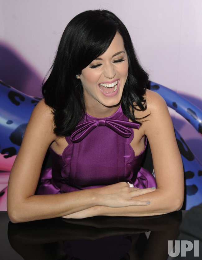 "Katy Perry attends the launch of her fragrance ""Purr"" in London"