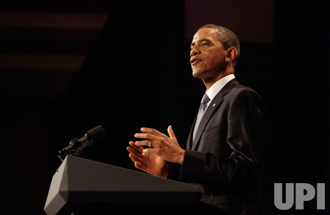 President Obama Speaks At Women's Leadership Forum