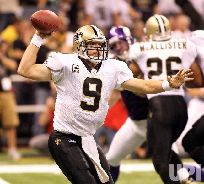 NFL Football New Orleans Saints vs Minnesota Vikings