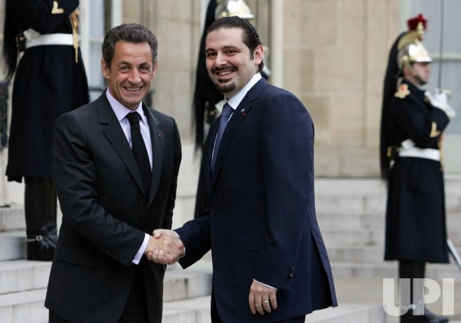 Lebanese PM Hariri in Paris
