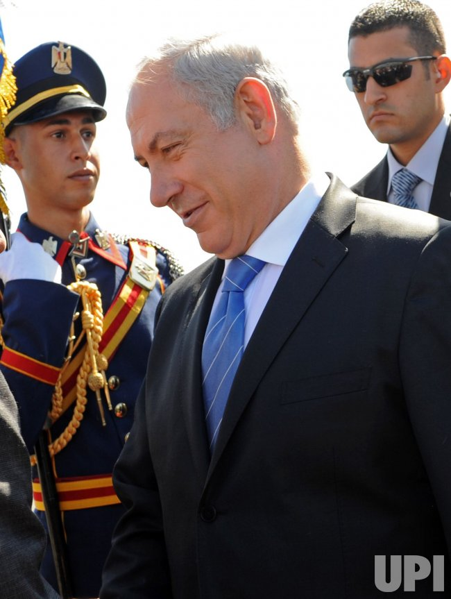 Israeli Prime Minister Benjamin Netanyahu arrives in Sharm el-Sheikh for the second round of peace talks with the Palestinians