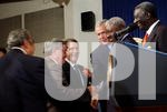 BUSH WELCOMES AFRICAN LEADERS TO WHITE HOUSE