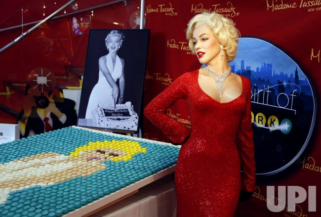 Marilyn Monroe Cupcake Portrait at Madame Tussauds in New York