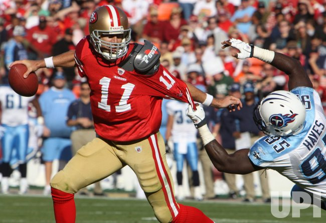 49ers' Alex Smith scrambles in San Francisco