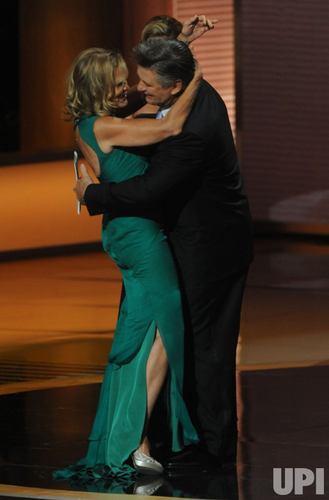 Actress Jessica Lange wins award at the 61st Primetime Emmy Awards in Los Angeles