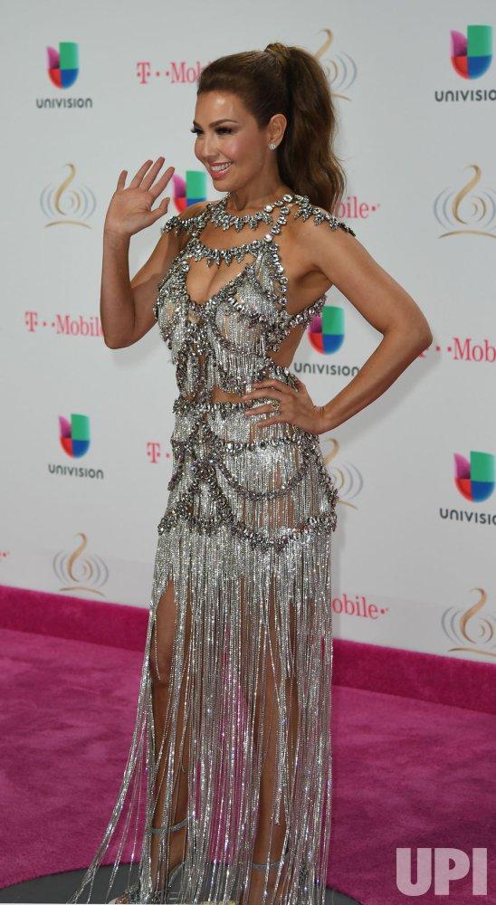 Latin Artist Thalia Walks The Red Carpet At The 2017